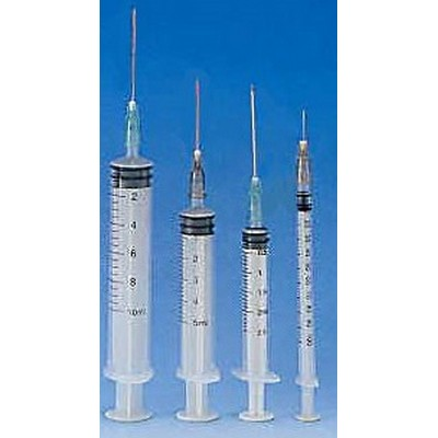 "Disposable syringes,5 ml, Safety,needle 21G x 1 1/2"", CE"