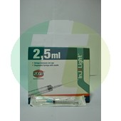 "Disposable syringes Rays Inj/Light, 23G x 1"", 2.5 ml"