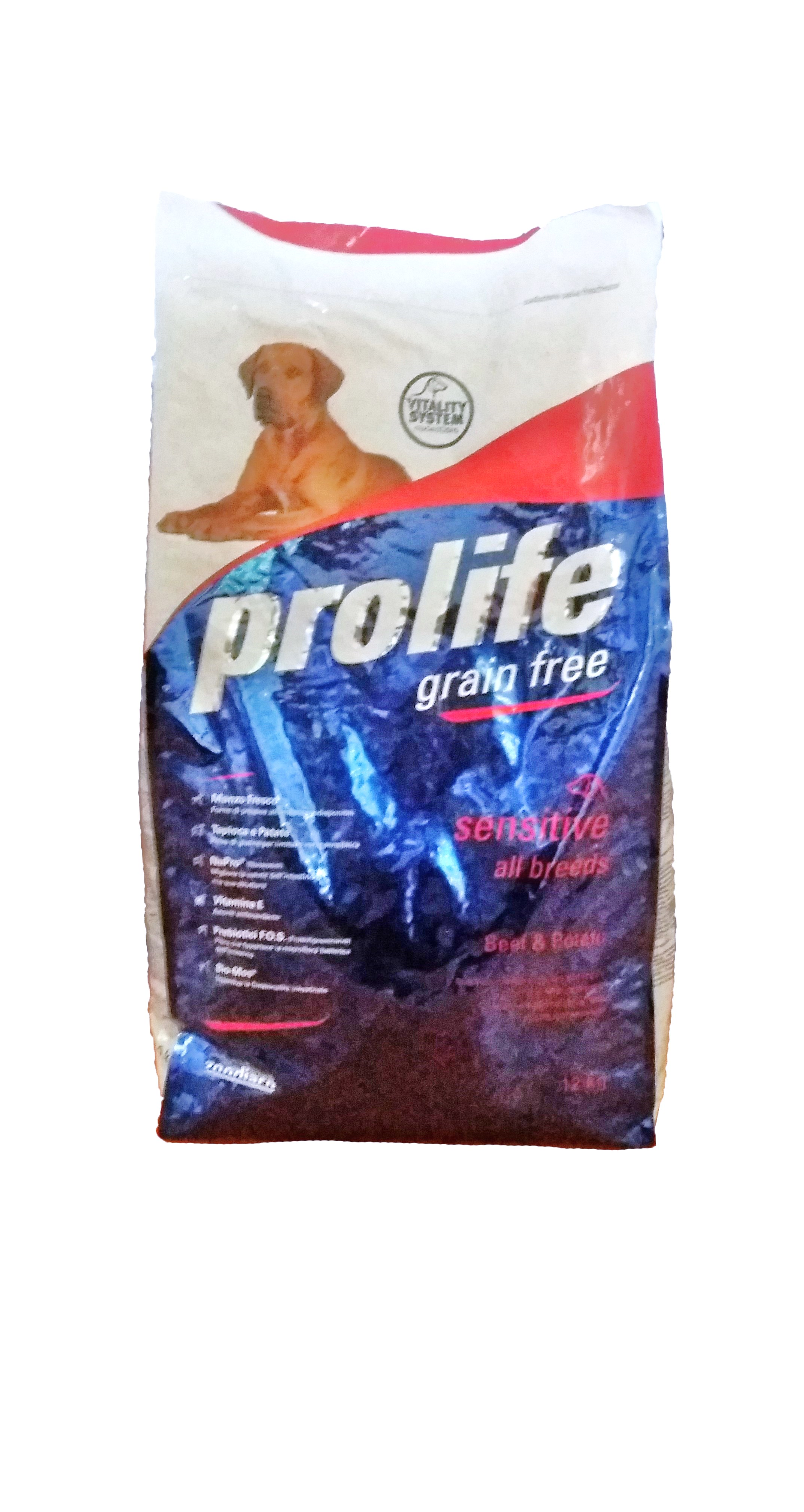Prolife Dog GRAIN-FREE 12kg, Beef&Potato (Made in Italy)