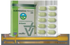 Albendazole Tabs 600 mg (Provet), 50 tabs