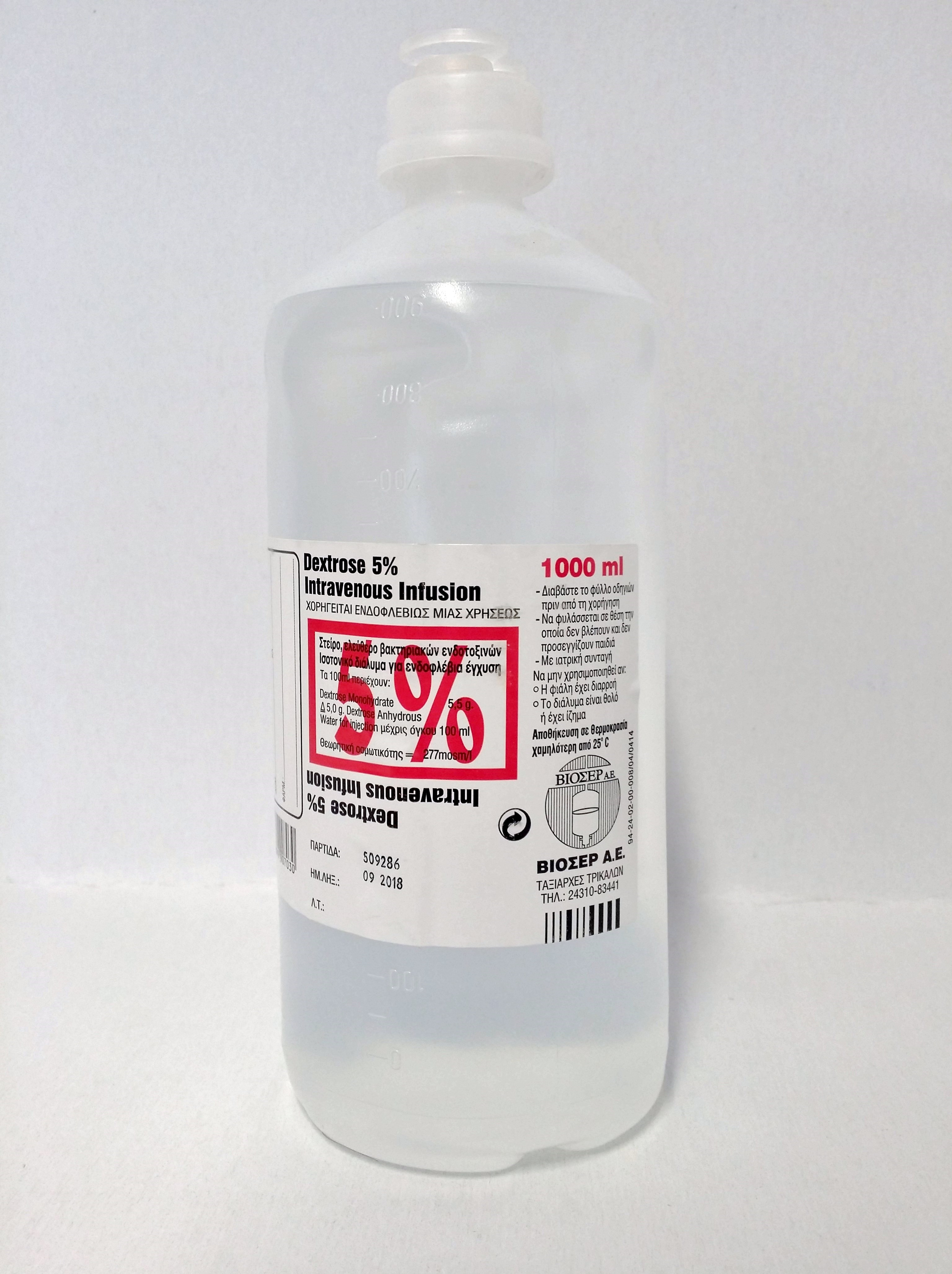 Dextrose Inj. 5%, 1000 ml
