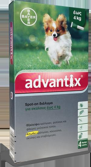 Advantix Spot On 1-4 kg, 4 x 0.4 ml