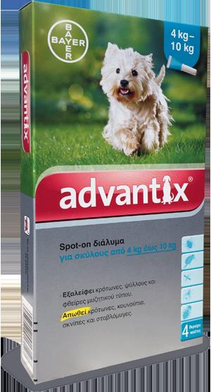 Advantix Spot On 4-10 kg, 4 x 1 ml