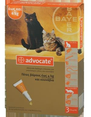 Advocate Spot On Cat 1-4 kg, 3x0.4 ml