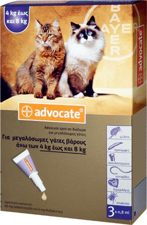 Advocate Spot On Cat 4-8 kg, 3x0.8 ml
