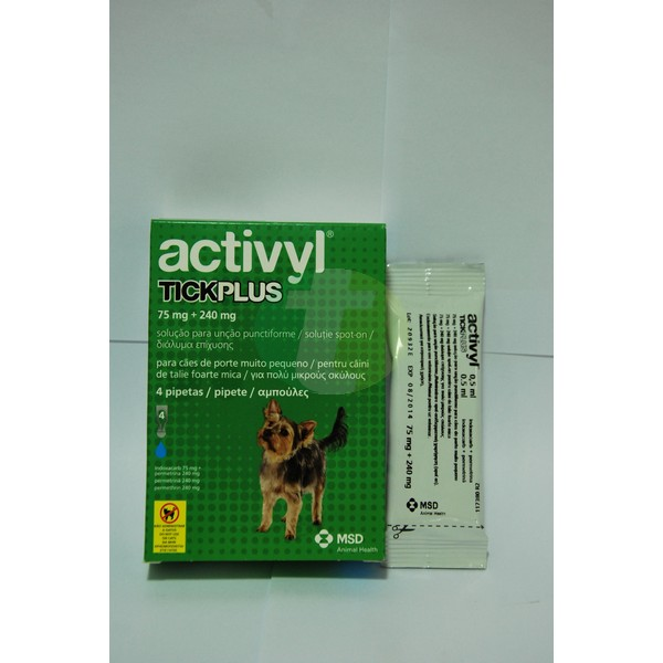 Activyl Tick Plus for very small dogs 1.2-5 kg, 4 pipettes
