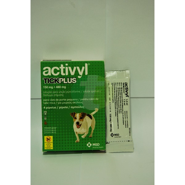 Activyl Tick Plus Small Dog 5-10 kg, 4 pipettes