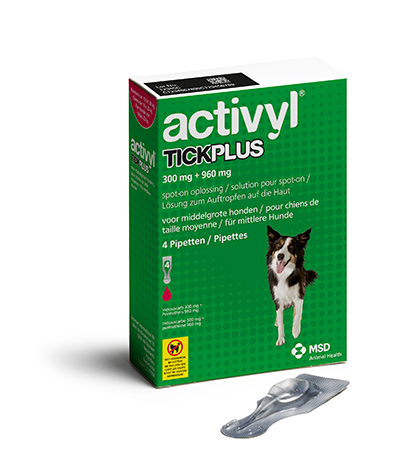 Activyl Tick Plus Medium Dog 10-20 kg, 4 pipettes