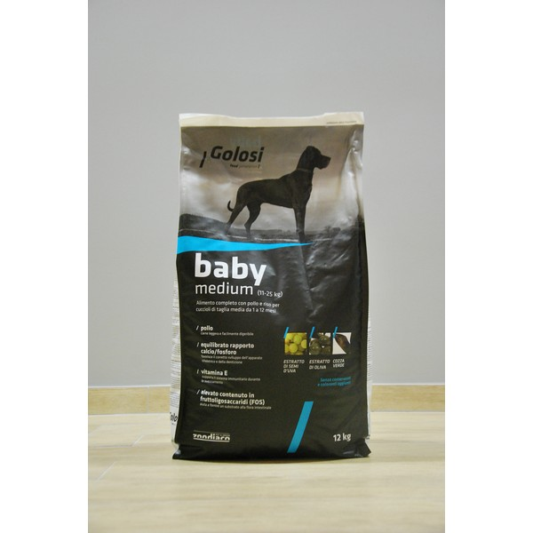 Golosi Dog Baby Medium 12 kg, S.Premium Venezia (Made in Italy)