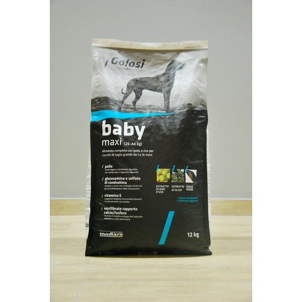 Golosi Dog Baby Maxi 12 kg, S.Premium Torino (Made in Italy)