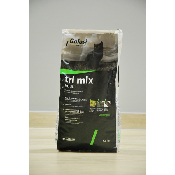 Golosi Cat Tri Mix Adult 1,5 kg, S.Premium Genoa (Made in Italy)