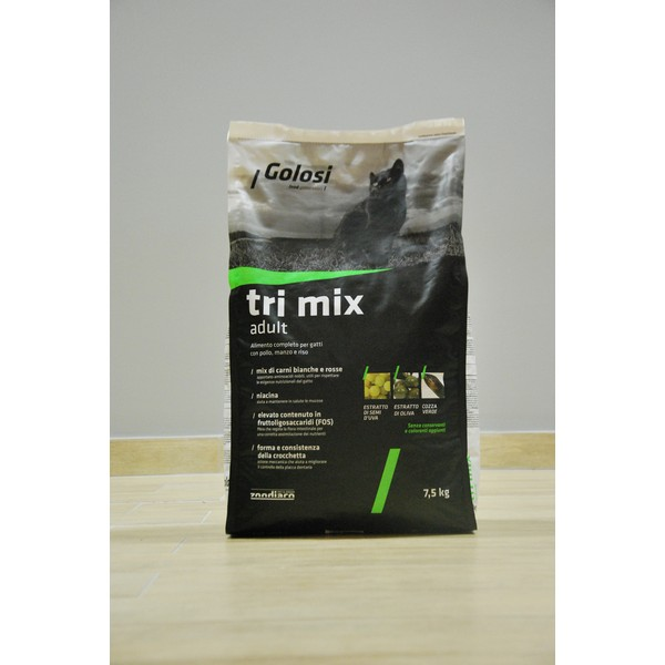 Golosi Cat Tri Mix Adult 7,5 kg, S.Premium Genoa (Made in Italy)