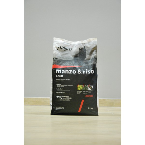 Golosi Cat Manzo & Riso Adult 7,5 kg, S.Premium Vicenza (Made in