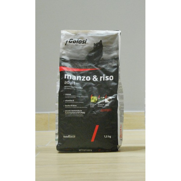 Golosi Cat Manzo & Riso Adult 1,5 kg, S.Premium Vicenza (Made in